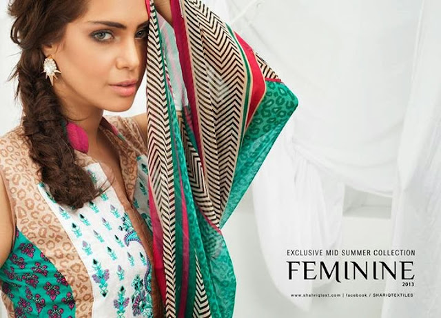 Feminine Collection by Shariq textile 2013