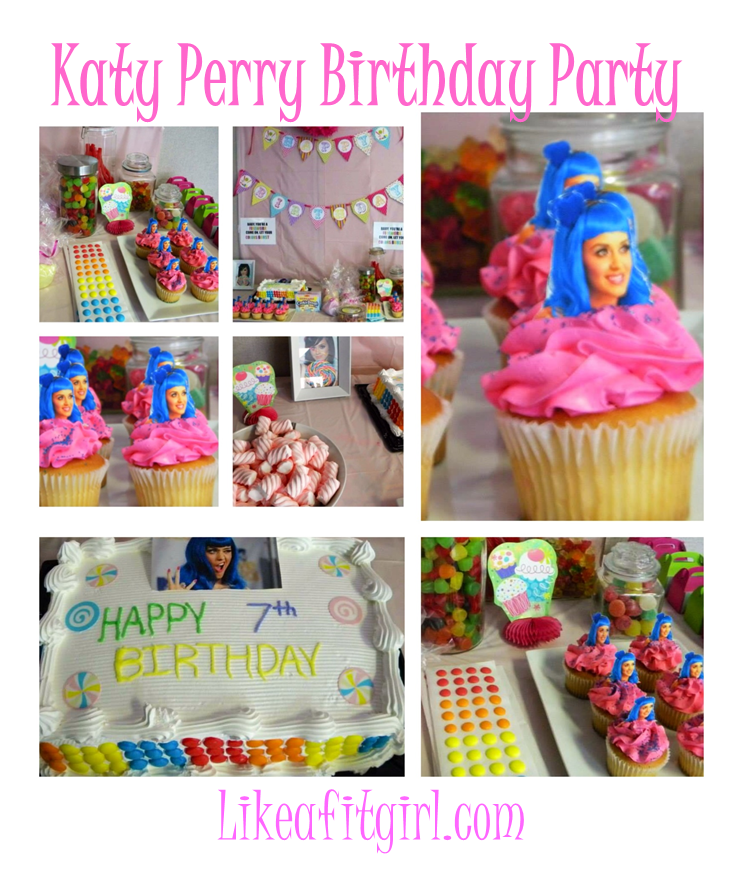 Like A Fit Girl Katy Perry Birthday Party For My Big Little 7yr Old