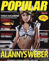 hot Foto Alannys Weber di Majalah Popular
