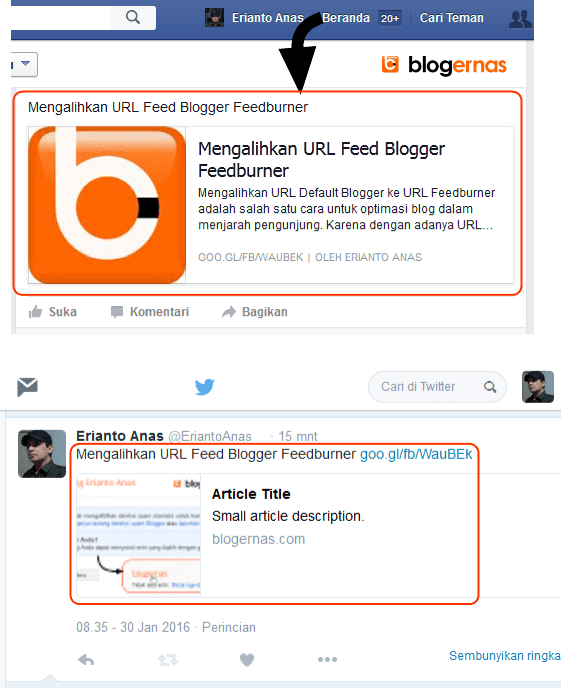 Cara Share Blog Otomatis ke Facebook via Twitter