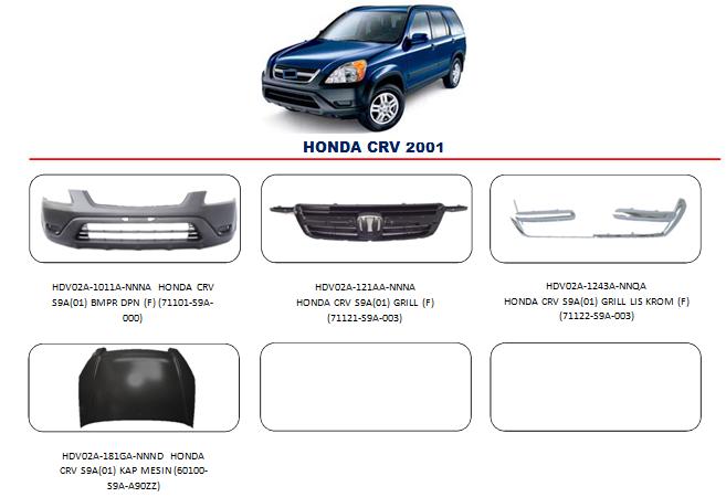 Bemper Honda CRV 2001