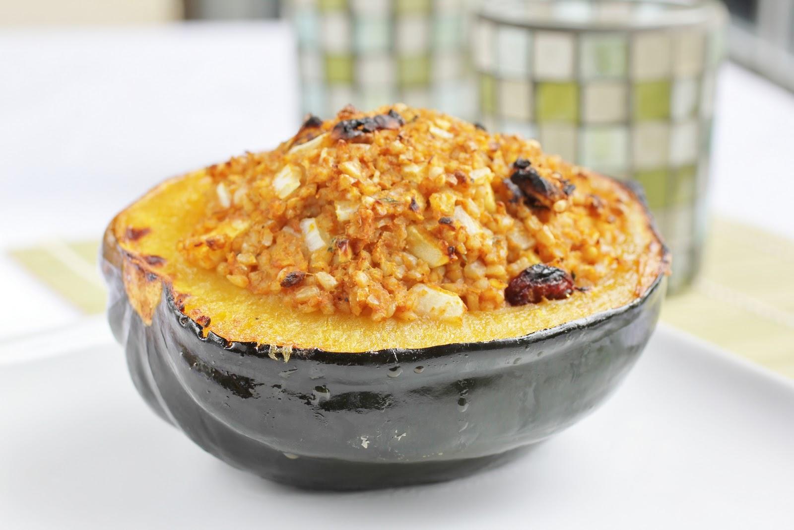 ... Girl's Kitchen: Autumn on a Plate: Pumpkin Bulgur Stuffed Acorn Squash