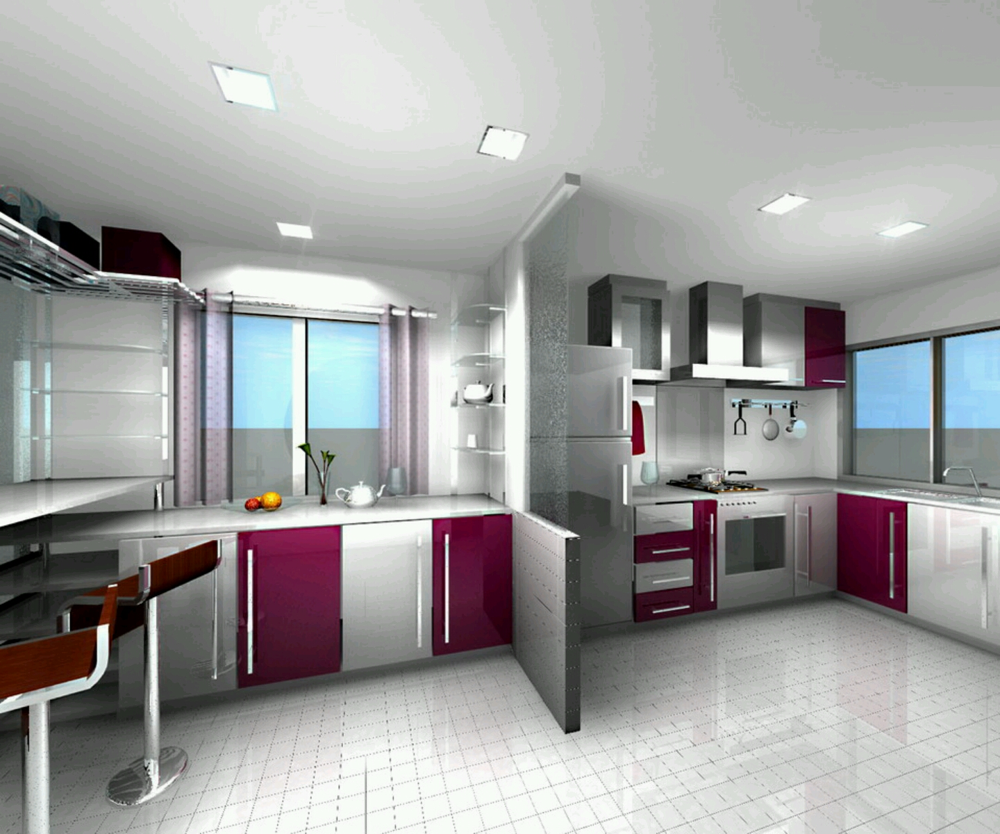 New home designs latest modern homes ultra modern for New kitchen designs pictures