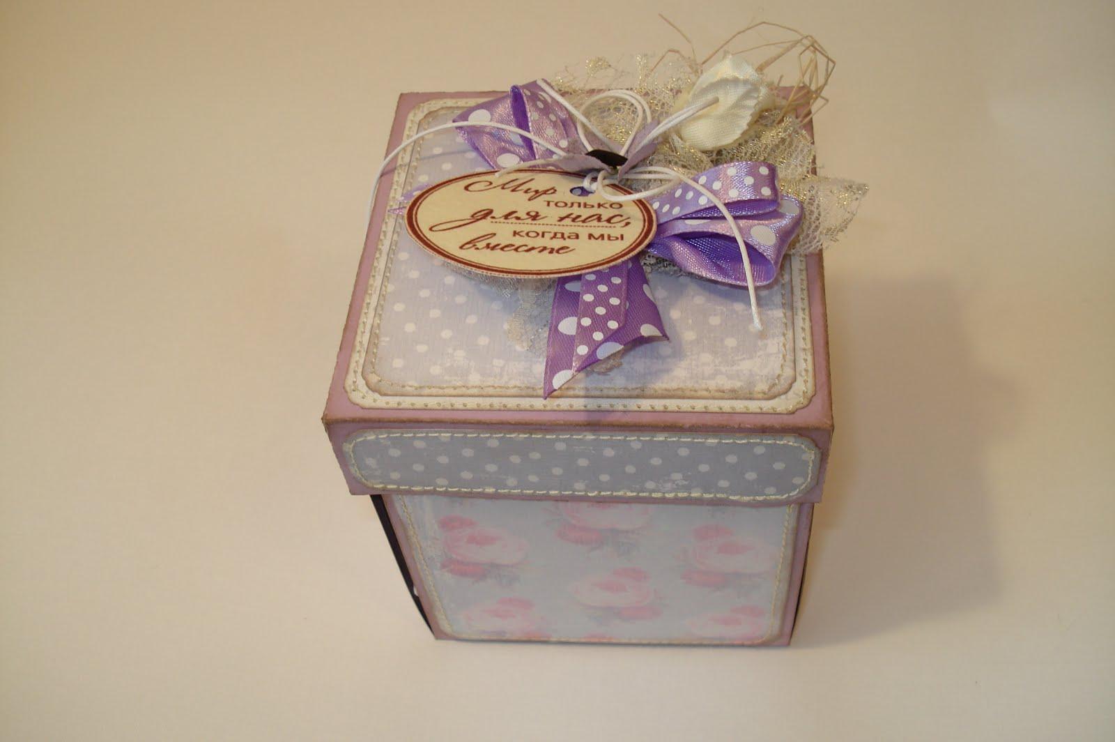 Коробки для подарков скрапбукинг - Как сделать подарочную коробку своими руками, мастер