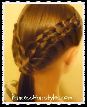 4 strand braid and french twist (the braided ledge ponytail)