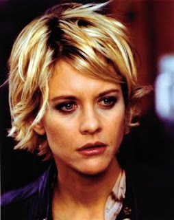 Meg Ryan messy bob haircut for short hair