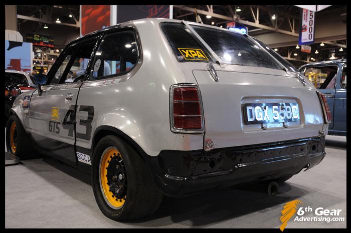klasyczna Honda Civic I, ciekawe stare samochody, oldschool, wyścigowe auto, racing, zdjęcia, JDM, grianghraf