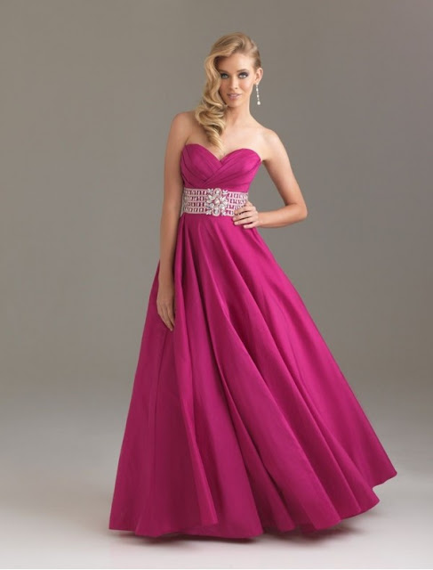 Taffeta Sweetheart Strapless Neckline Ball Gown Prom Dress with Delicate Beaded Waistband