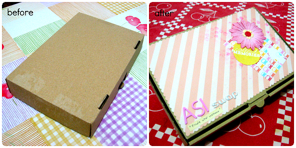 Prima e dopo avere alterato la scatola - Before and after I have altered the box