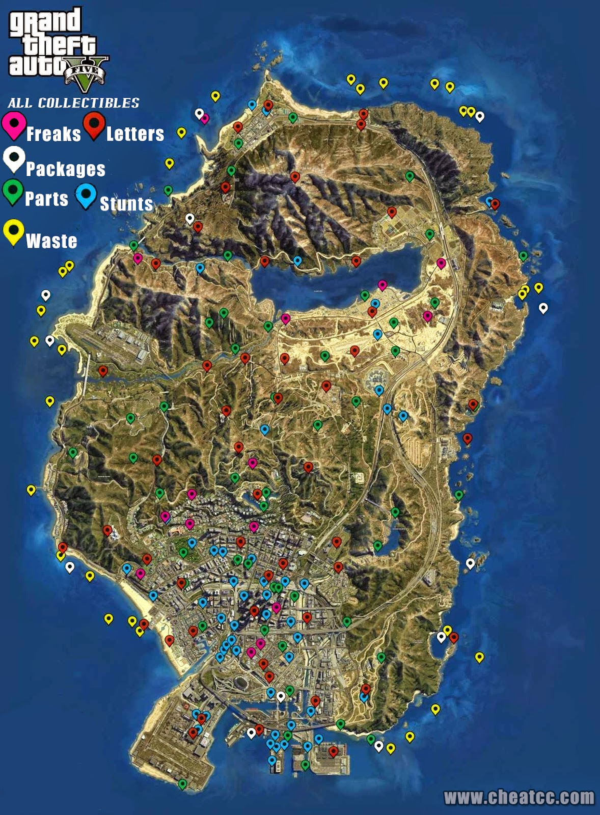 map 1 this map contains all locations for all collectibles gta fivev secret car - Gta V Secret Cars