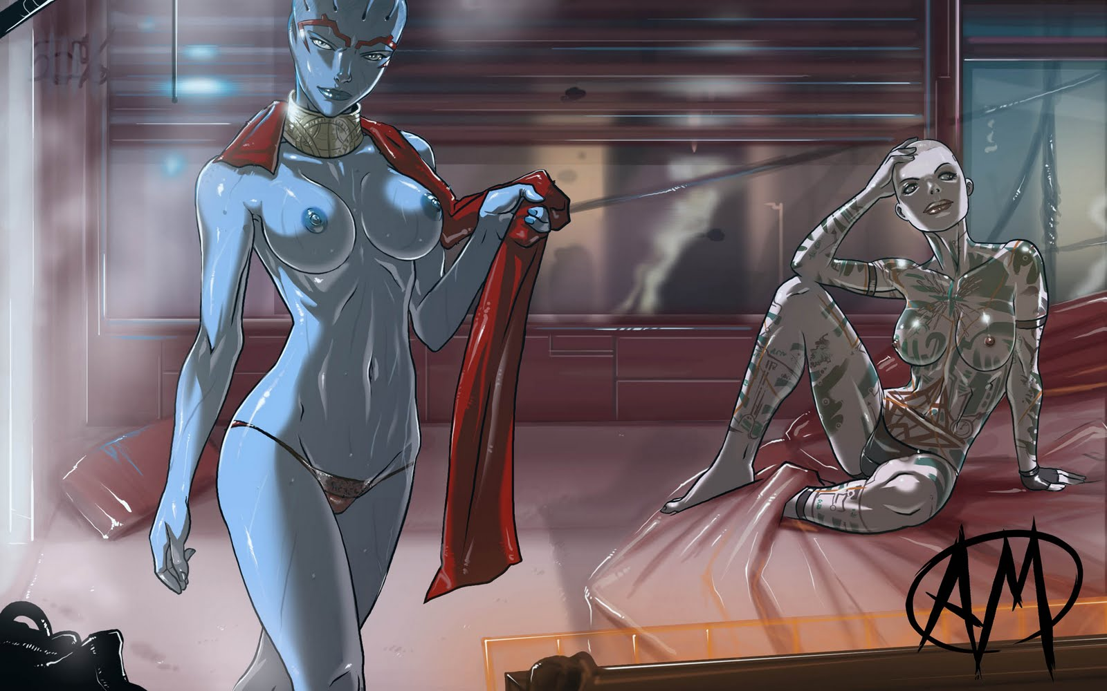 Mass effect erotic sex art anime videos