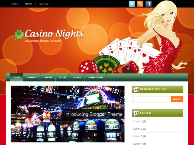 CasinoNights Blogger Template