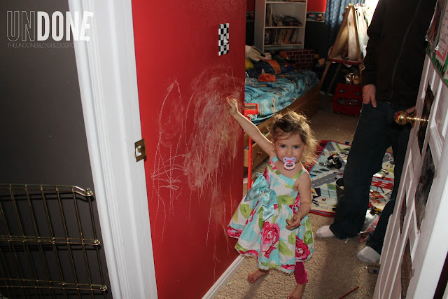 {The UNDONE Blog} Terrible Twos - drawing on walls