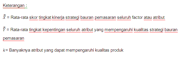 Importance performance analysis statistics analyzes memetakan ke dalam diagram cartesius ccuart