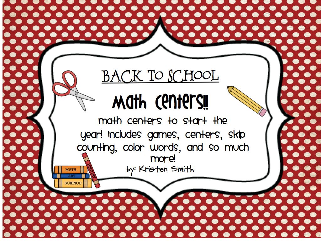 A Day in First Grade | Back to School Math Centers