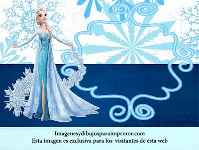 Invitaciones de cumpleaños de Elsa