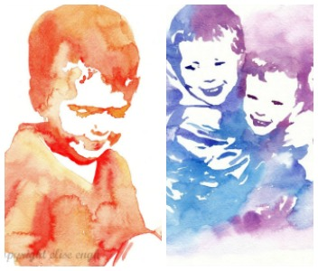 Custom Watercolor Portraits- order now!