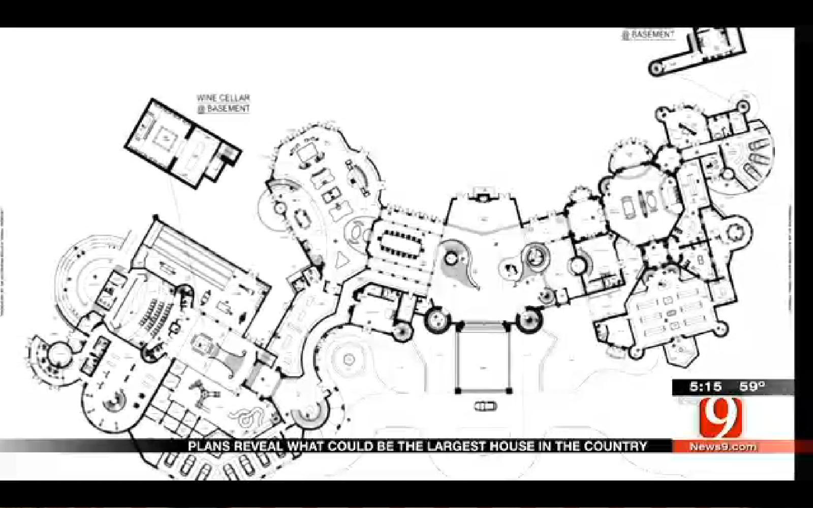 Mega mansion house plans - 92 650 Square Foot Proposed Super Mega Mansion In Edmond Ok