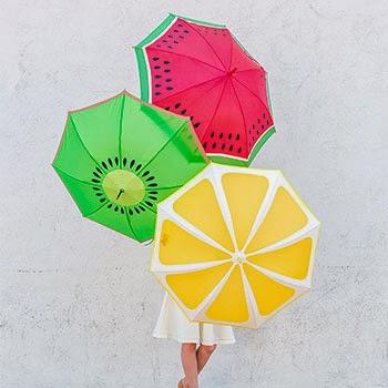 Paraguas originales gajos de fruta