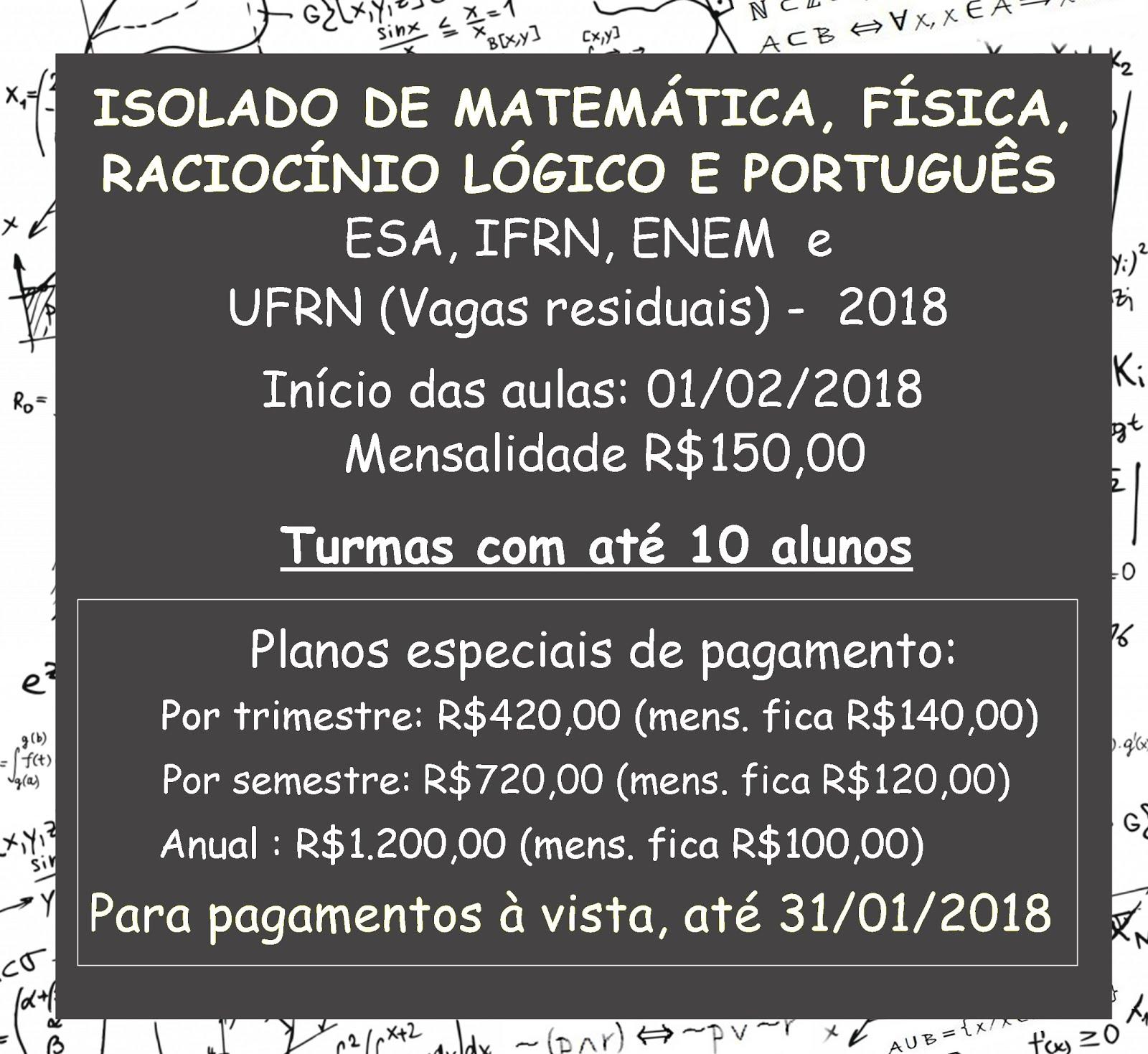 PROMOÇÃO TURMAS 2018