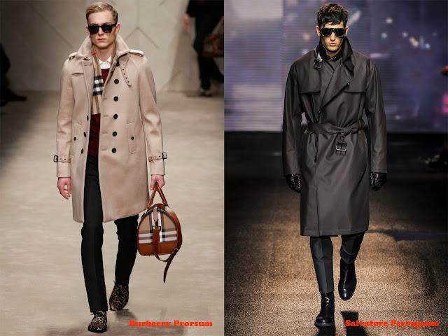 Tendencia otoño_invierno 2013-14 gabardina: Burberry Prorsum y Salvatore Ferragamo