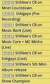 SHINee's Everybody comeback music show schedule