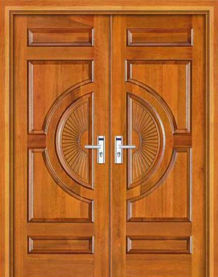 New collection kerala model wooden front door double for New style front doors