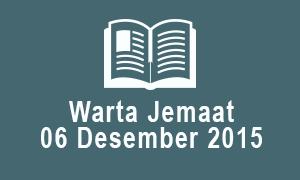 Warta Jemaat 06 Desember 2015