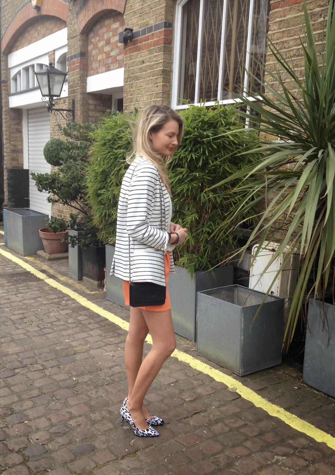 asos heels, asos leopard print heels, orange shorts, street style