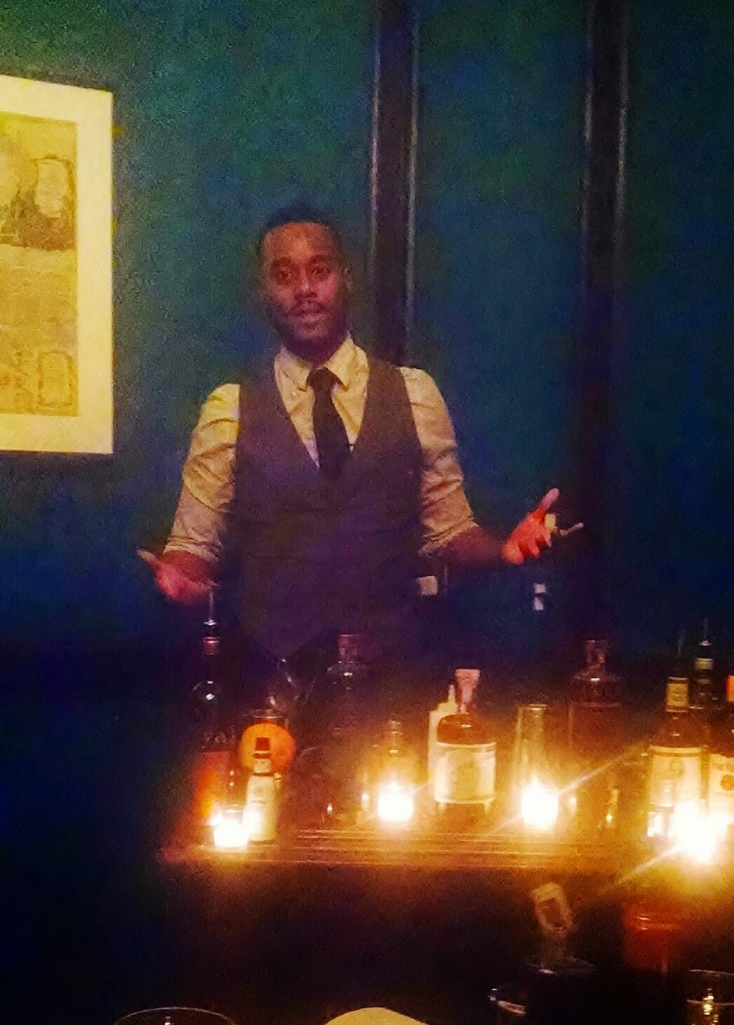 Derrick Turner, bartender