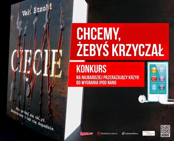 """KONKURS na krzyk - książka """"Cięcie"""" Veita Etzolda"""