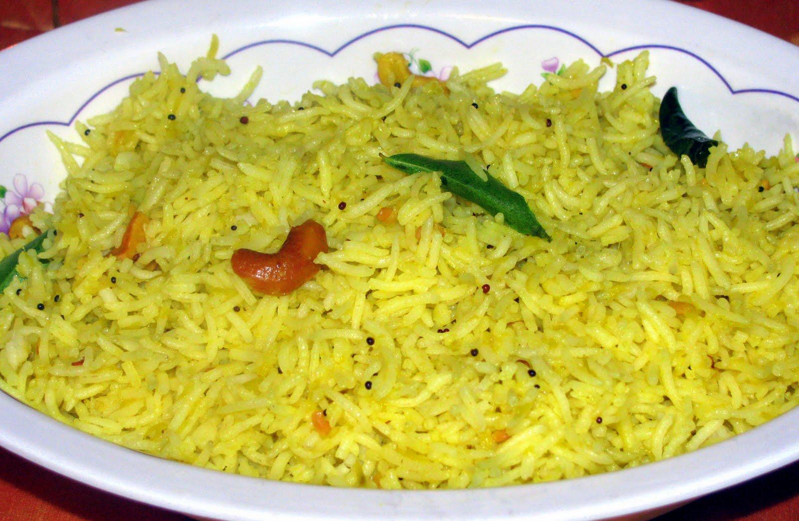 mango rice or mamidikaya pulihora in telugu is a rice item ...