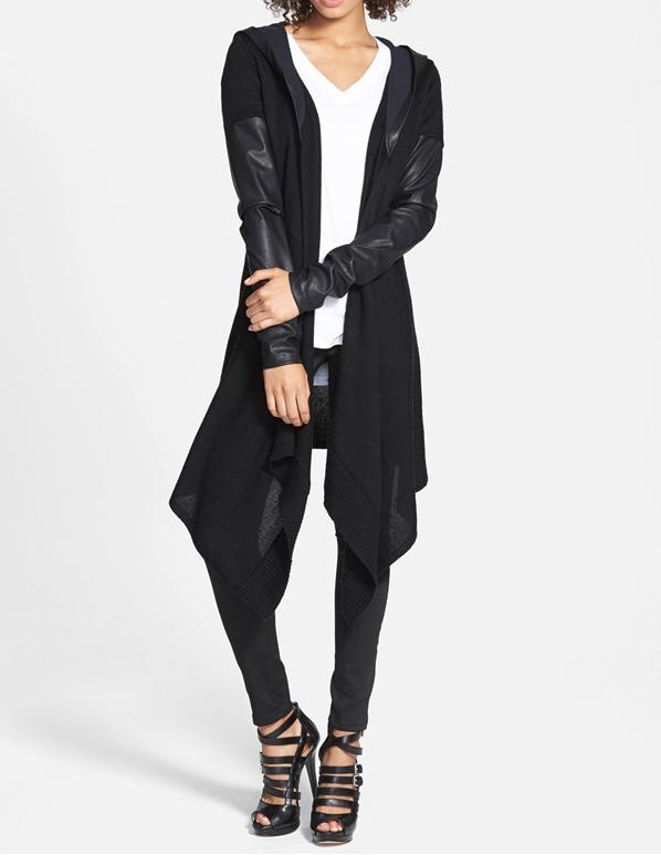 fall fashion - BLANKNYC 'Vegan Diet' Draped Jacket