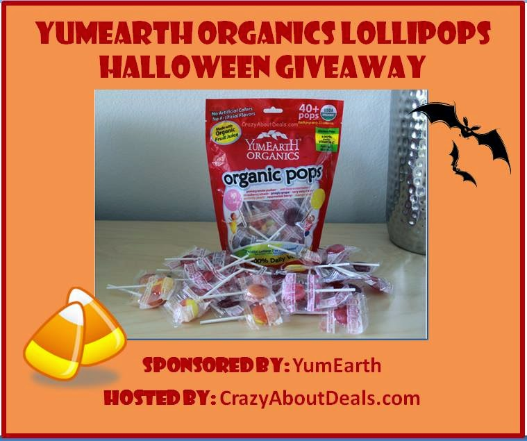 Enter the Spooktacular YumEarth Organics Candy Giveaway. Ends 10/31.