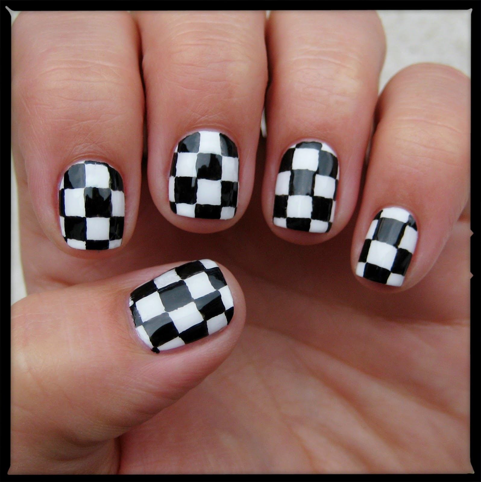 Dahlia Nails Checkerboard Chick