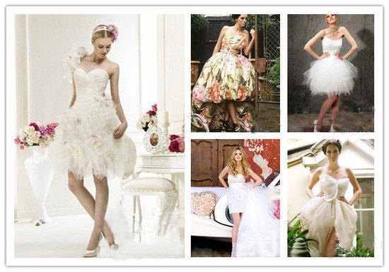 short ball gown wedding dress