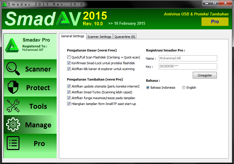 SmadAV 10.0 Pro Full Keygen