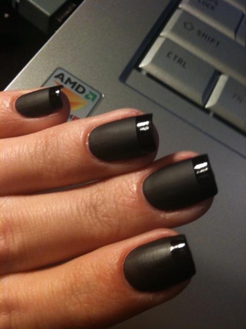 Spice up Black Nail Polish | Make Up Tips - Nail Art - Hair Styles ...