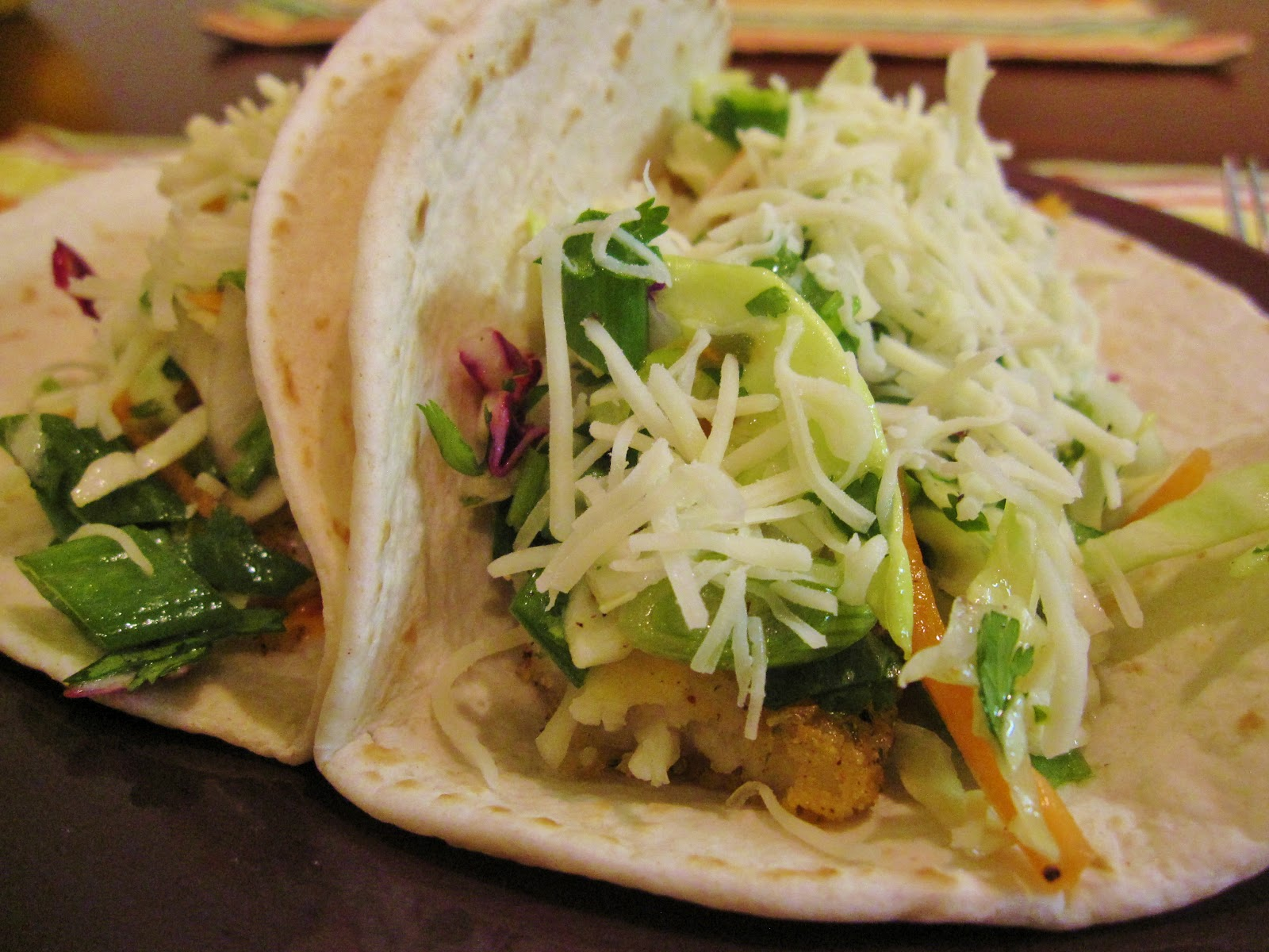 Paprika princess fish tacos with cilantro lime slaw for Fish tacos with coleslaw