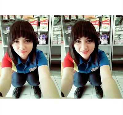 Siti Rohmah Pegawai Indomarer Cantik