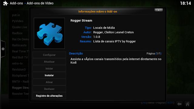 Tutorial – Como instalar o Repositório Roggers (Rogger Stream).