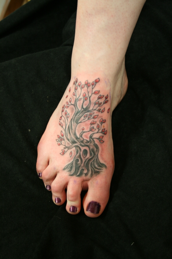 Ankle Tattoo Tree