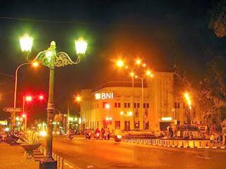 Night View Of Yogyakarta Malioboro Street