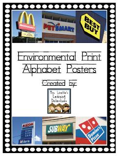 Environmental Print: Alphabet Posters