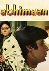 Abhiman starring Amitabh Bachchan and Jaya Bhaduri on My Bollywood Stars