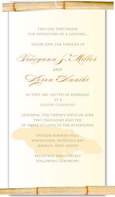 bamboo scroll invitation