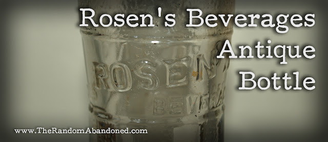 rosen's beverages south river bottle company new jersey dylan benson antique bottle glass