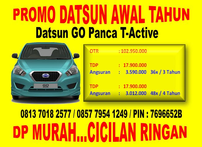 Promo Datsun GO Panca T-Active Awal Tahun di 0813 7018 2577