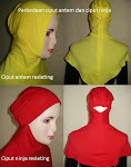 Ciput ninja & antem resleting / zipper murah Rp. 13.000