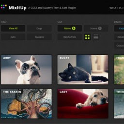 Beautiful jQuery Plugin For Filtering And Sorting Items – MixItUp